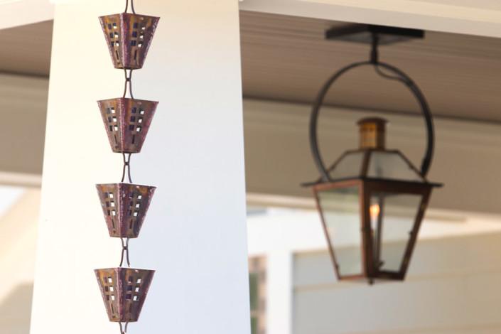 Gas lantern | copper rain chain